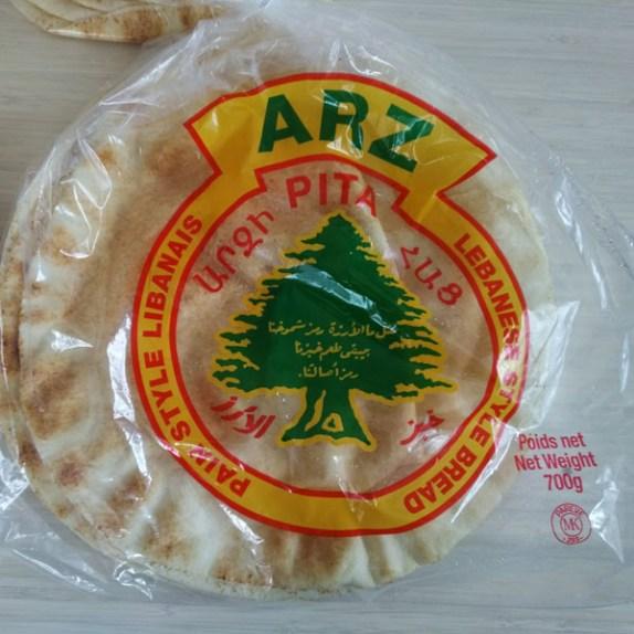 pita bread blanc