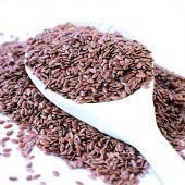 spoon-scoops-flax-seeds
