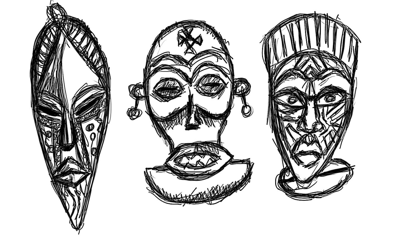 Art 1 Hw Wks 8 9 Mask Thumbnail Sketches Skyline High