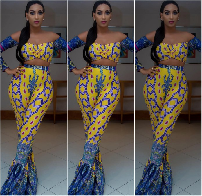 African Celebrity Styles: Juliet Ibrahim In Ankara