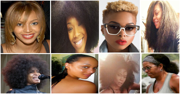 Black Celebrities With Their Natural Hair Nappy Hair