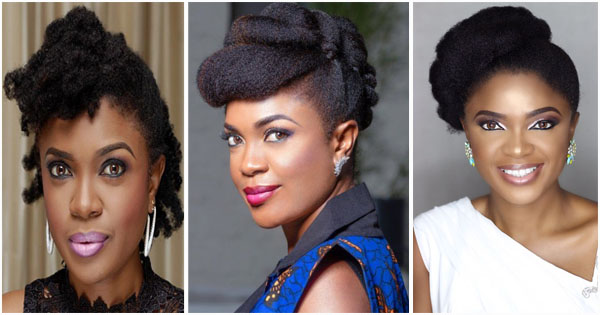 Omoni Oboli 16 Beautiful Natural Hairstyles Of The Nollywood