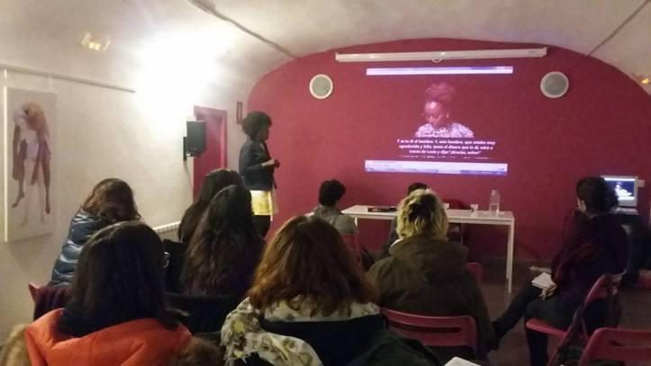 Taller feminismos negros en la Pantera Rossa