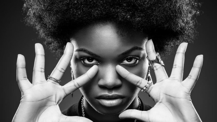 Young black woman with afro hair style