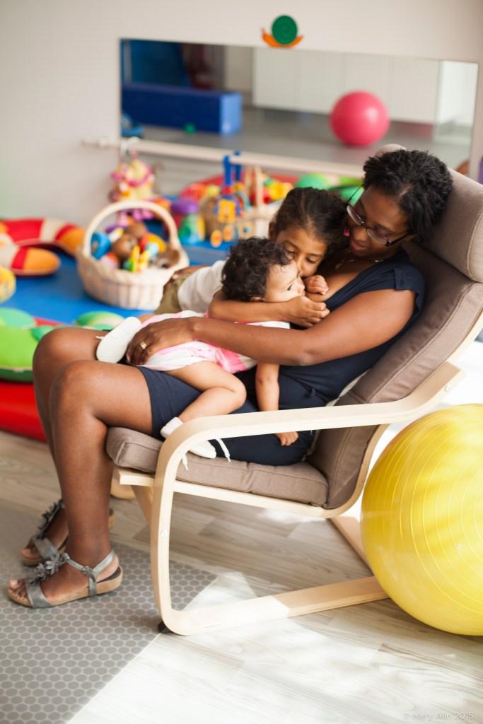 Mayalène y sus hijas
