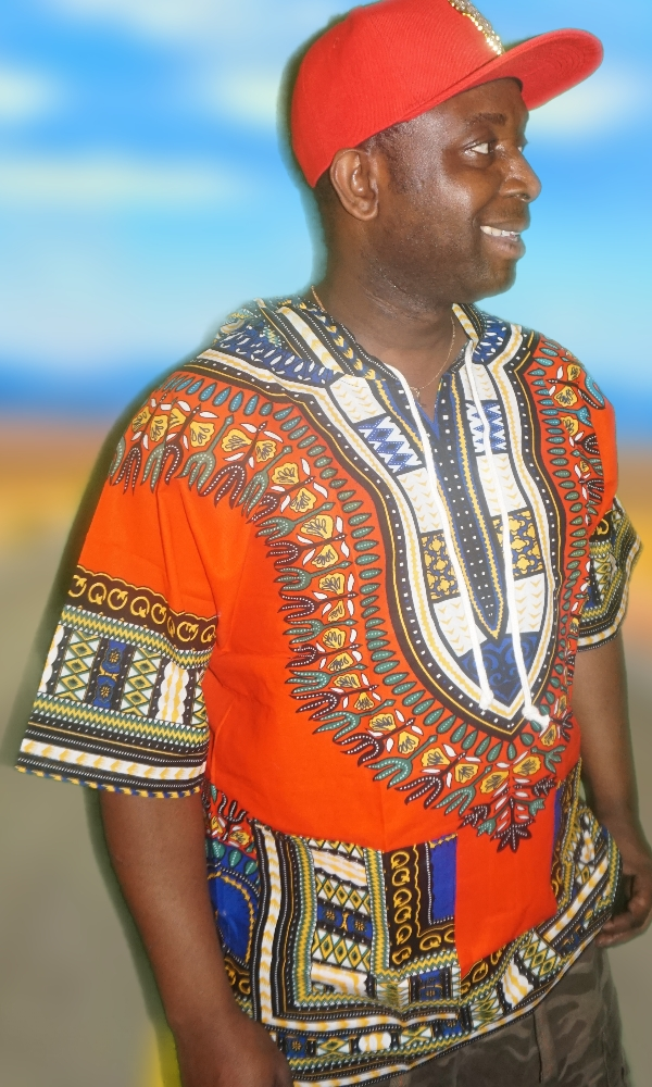 Hooded dashiki short sleeved shirt
