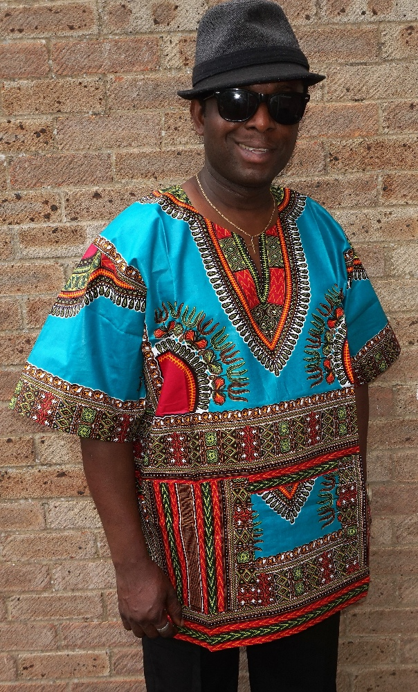 Quality dashiki print shirt short sleeved shirt
