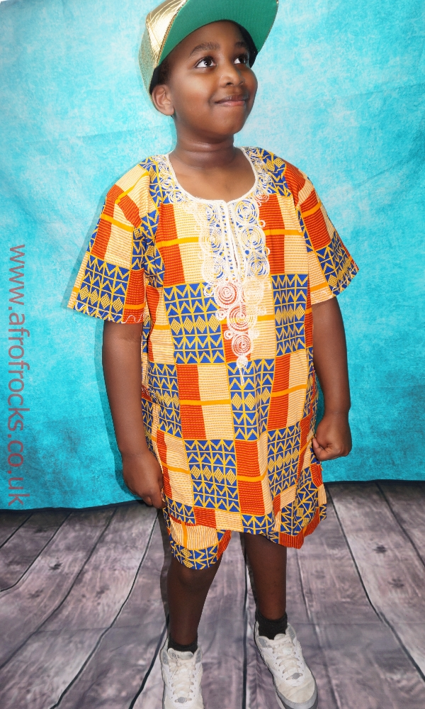 Unisex Kente print shorts set