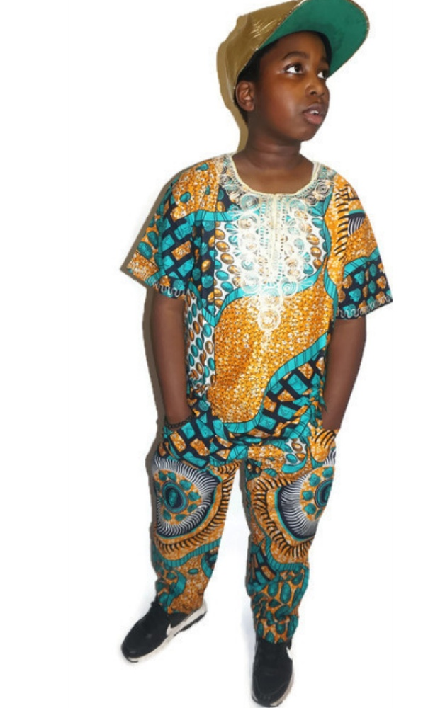Ankara wax print trouser and top set