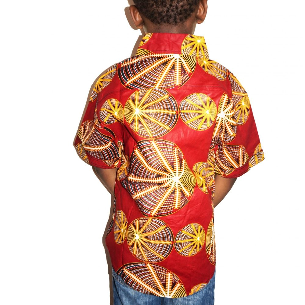 Boys red shells print shirt