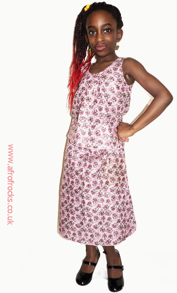 Miss pinky African print skirt and top