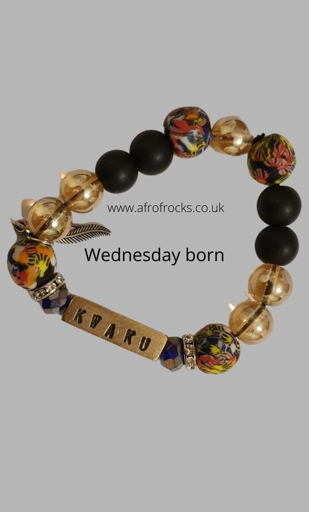 Ghanaian Birth name charm bracelets for men