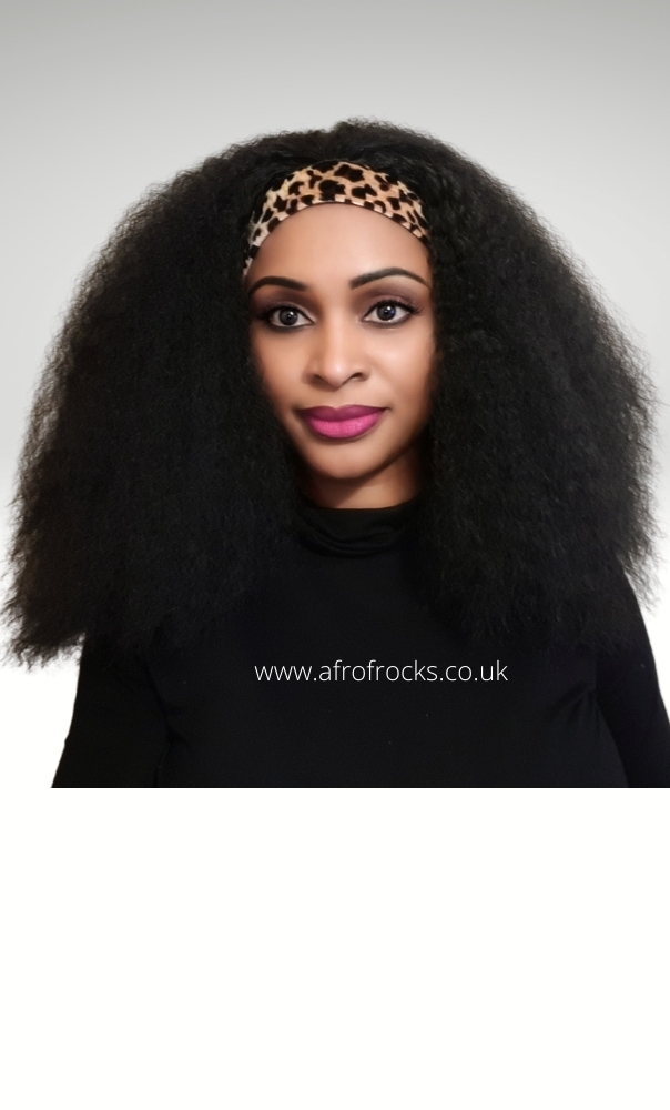 Leopard Headband Massive Afro hair wig