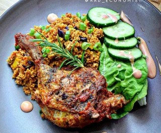 Jollof couscous & duck