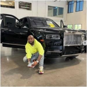 Davido Rolls Royce car 2021