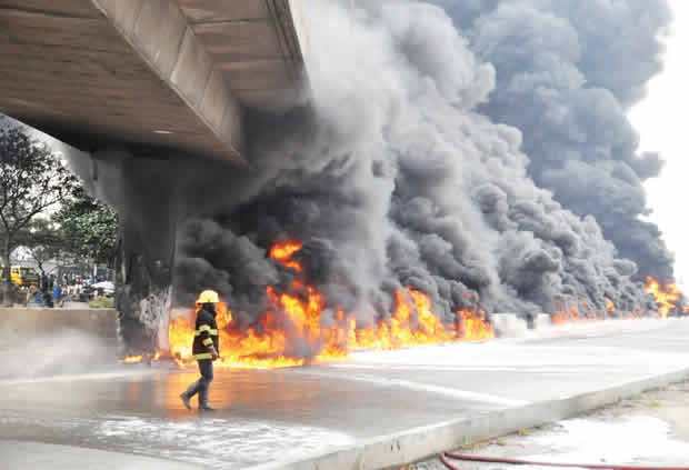 Lagos closes Airport Bridge over tanker fire – Punch Newspapers
