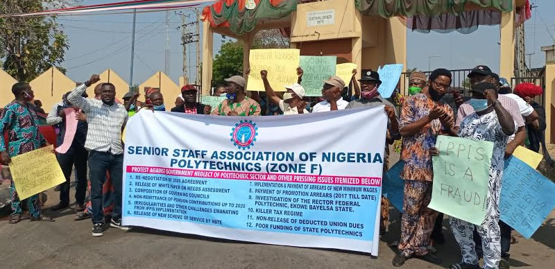 IPPIS: Poly workers protest in Ibadan – Punch Newspapers