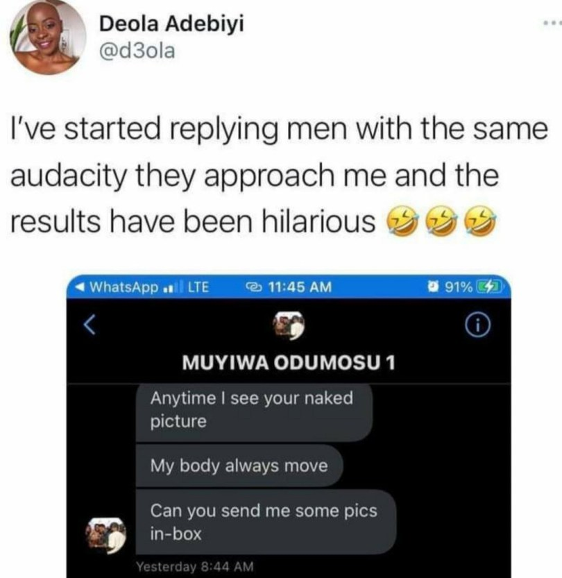 See What Lady Replies Man Who Asked Her For Nud3s