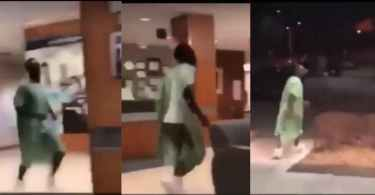 See Viral Video Of Man Who Ran Away From Hospital Bed Because His Wife Had His Phone