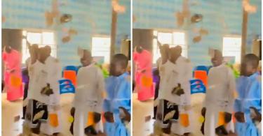 Church Members Hail Young boys As They Spray Money Lavishly in Church