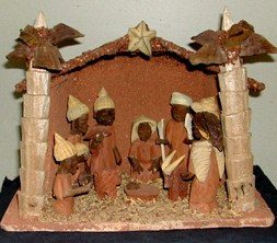 This Nigerian Nativity Scene Naturally Focuses On The Peace Bringing Palm Fronds Christmas Cribs Are Made In Many Parts Of Country