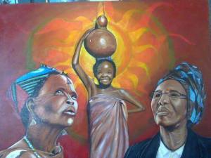 a picture that depicts Botswana's culture - by Ron The artist