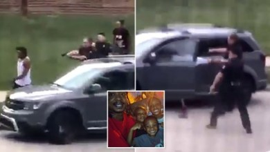 Photo of Black man ,Jacob Blake shot in the back seven times by Wisconsin police