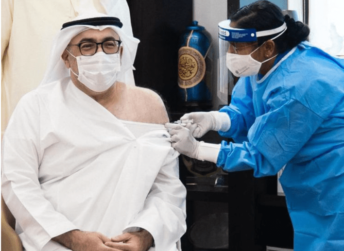 UAE Minister of Health received first dose of COVID-19 vaccine
