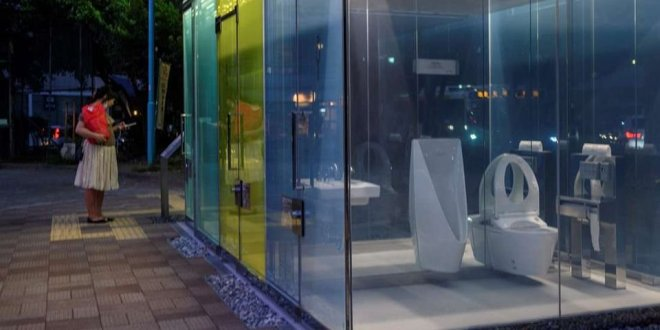 Japan now has transparent public toilets