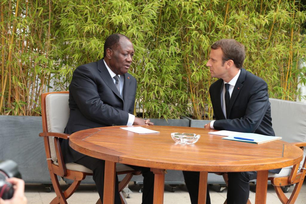 Entretien Alassane Ouattara et Macron à l'elysée