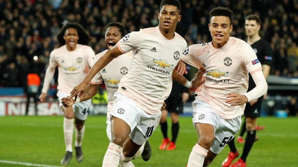 Victoire de Manchester United contre le PSG