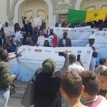 manifestation des subsahariens en tunisie