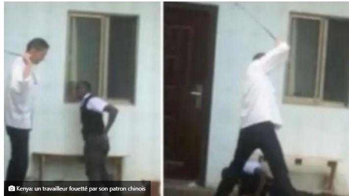 Kenya un travailleur fouetté par son patron chinois pour s'être présenté en retard au travail (Vidéo)