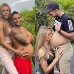 Une mannequin transgenre colombienne partage une photo de la bosse de bébé de huit mois de son mari alors qu'ils se préparent à accueillir leur premier enfant