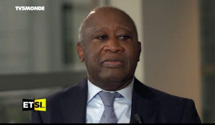 Laurent Gbagbo accorde une interview à TV5 Monde ce 29 octobre 2020. L'image de l'enregistrement de l'émission fait déjà le tour de la toile.