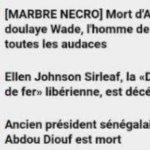 Victime d'un énorme bug, RFI annonce la mort de Diouf, Wade et Ellen Johnson Sirleaf