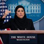 USA: Une première, une femme voilée tient un point presse à la Maison-Blanche
