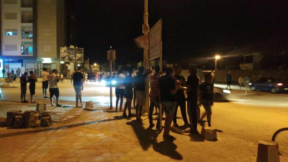 Tunisie: Manifestation dans le quartier de la ouina