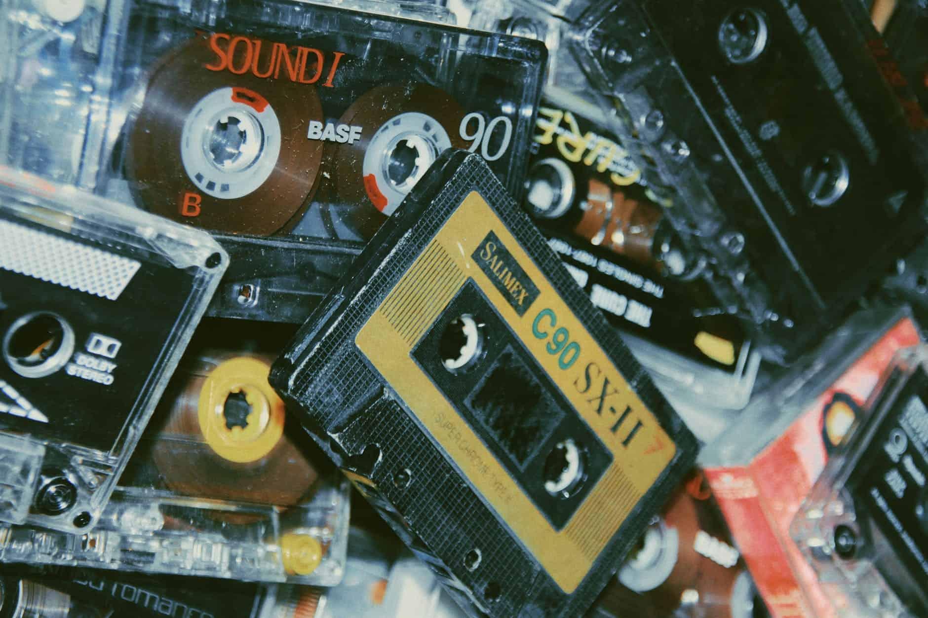 pile de cassettes