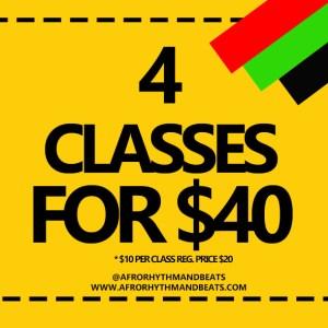 4 dance class package