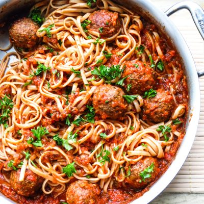 Gimme Lean West African vegan meatballs