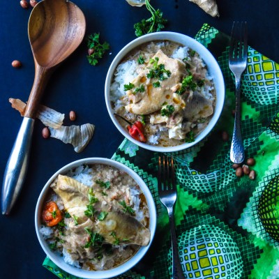 West African Peanut Soup with Tilapia