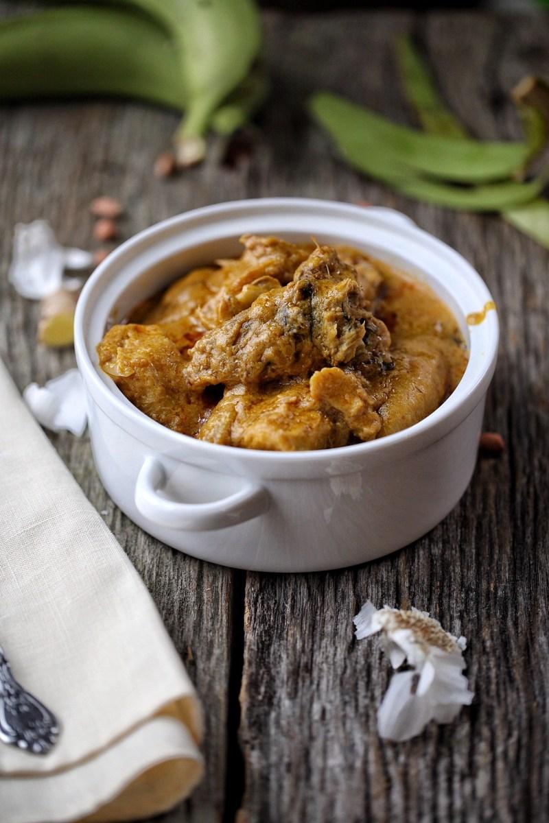 Cameroon Topsi Banana ( Banana peanut porridge)