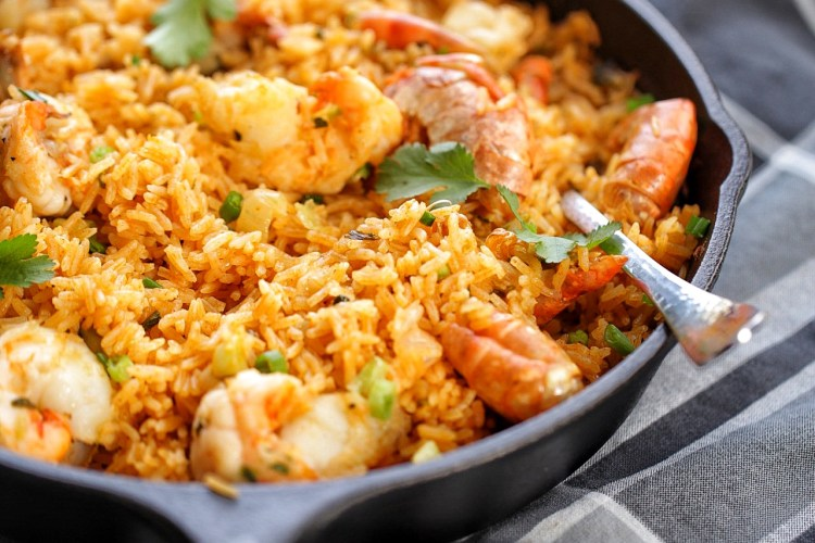 Baked Shrimp coconut rice