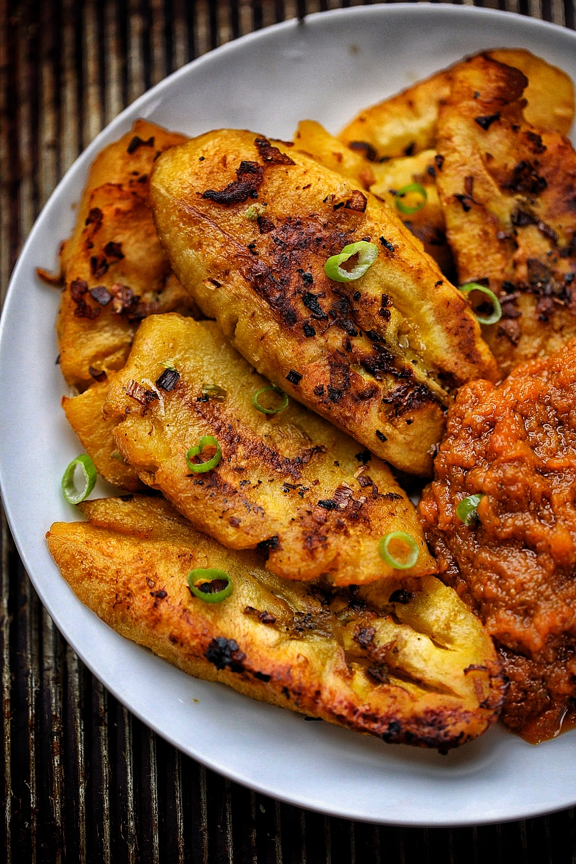 Crispy Pan Fried Plantains With Pepper Sauce Afrovitalityeats