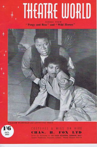 Theatre World cover of William Warfield and Leontyne Price