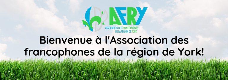 Bienvenu à l'association des francophones de la région de York!