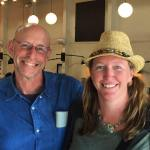 Tammi with best-selling US food writer Michael Pollan