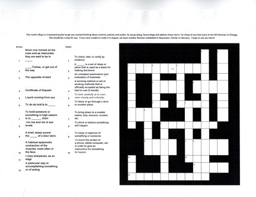 Crossword blog