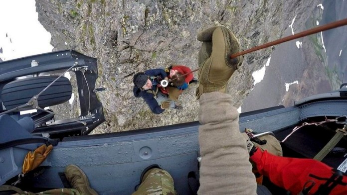 Alaska PJs rescue hiker off of cliff- video
